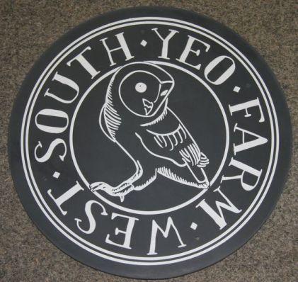 Slate House Sign Circle