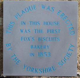 Slate plaque with blue lettering
