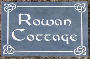 Slate House Sign with celtic border