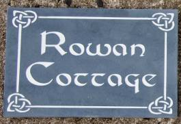 Celtic Slate House Sign