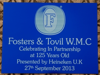Engraved Blue Aluminium Business Sign