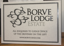 Engraved Corian Business Sign