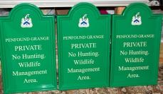 Bull Nose Fibreglass Business Signs