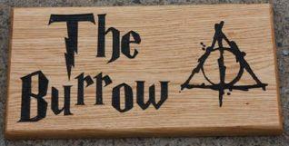 Harry Potter font House Sign
