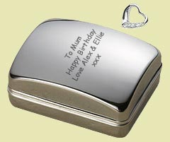 Personalised Silver Plated pendant gift