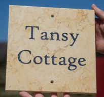 Sunny Gold marble House Sign