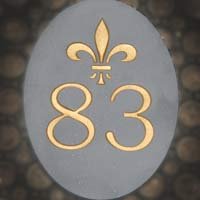 Slate number Sign