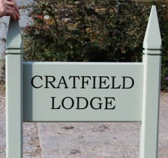 Painted Wooden Entrance Sign doublesided