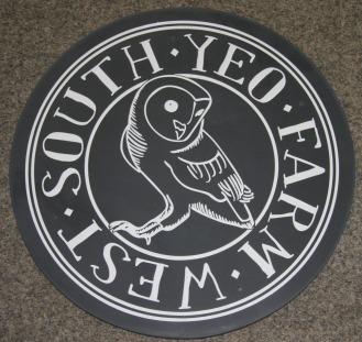 Round slate sign using customers artwork ref - 1002.12.04