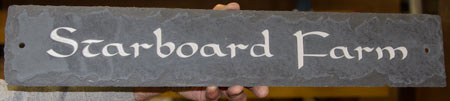 Rustic Slate House Sign