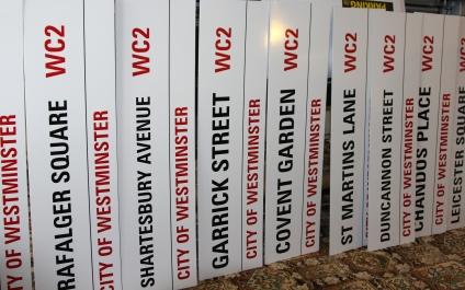 London Signs Aluminium Composite- Cut vinyl lettering