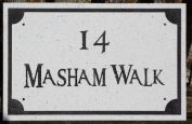 White Quartzite House Sign
