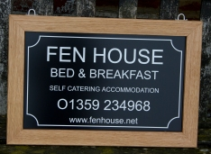 Hanging Wooden Framed Black Aluminium Composite House Sign