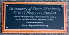 Black memorial black on backing board.