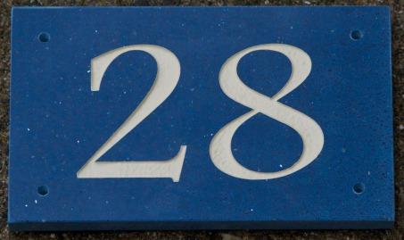 Blue cosmos quartzite - cream letters