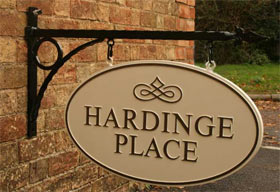 Cast Metal hanging House Sign
