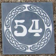 Celtic slate number
