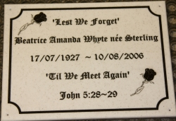 Corian Memorial Plaque
