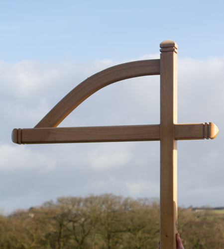 Exmoor style wooden post and arm