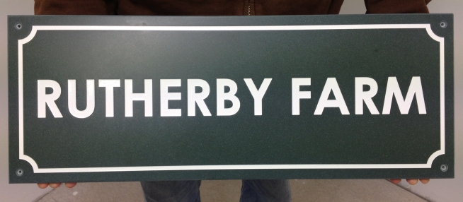 Large Corian Farm Sign