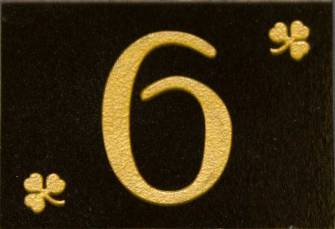 Granite house number