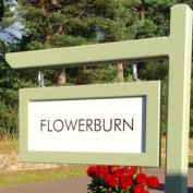 Painted post and arm with framed white Aluminium Composite House Sign