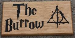 Oak House Sign Harry Potter