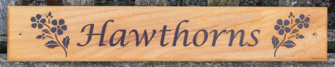Driftwood Style Iroko Sign