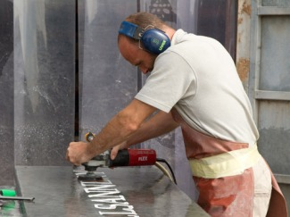 Shaun cleaning the Slate