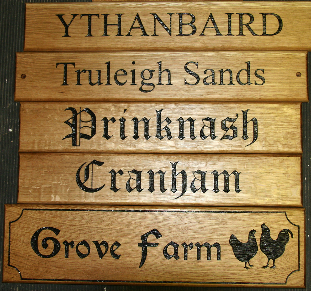Oak Wood Signs ~ Wooden signs the sign maker gallery