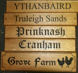 Oak signs made the way you want them! http://www.sign-maker.net/wooden/oak-carved-signs.html