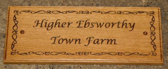 Elegant wooden sign