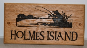 Wooden Sign with image