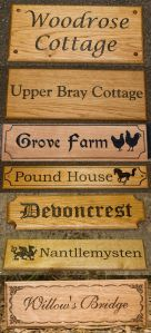 Verious Wooden Signs