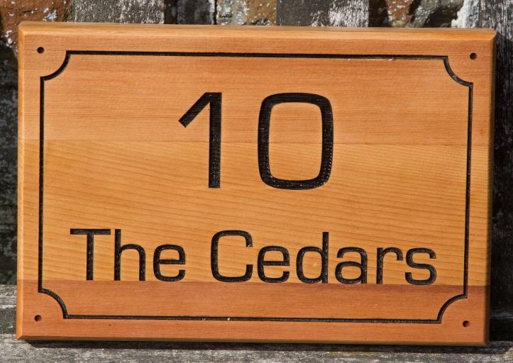 Red Cedar Sign