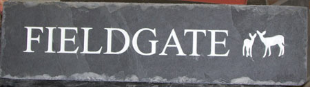 Rustic Slate House sign