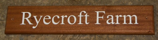 Sapele sign