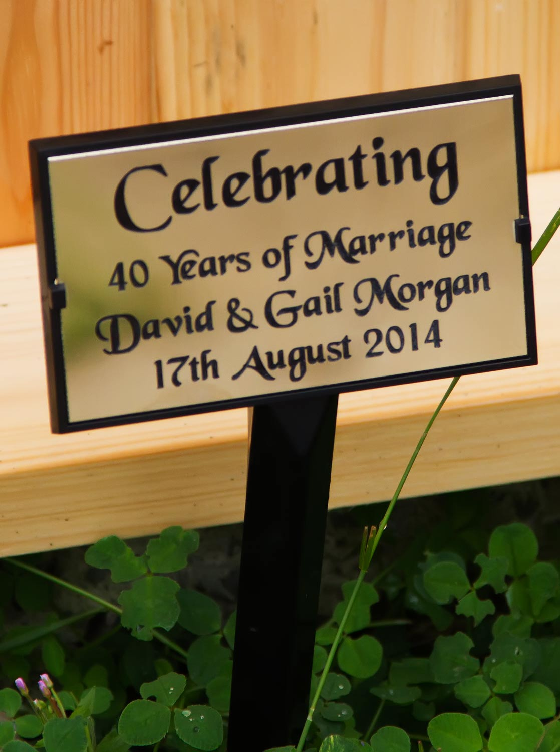 All In One Plaque With Tree Stake The Sign Maker Blog