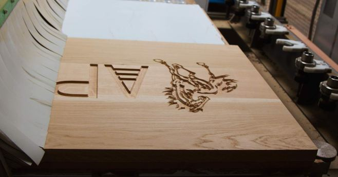 Oak Sign on the CNC router