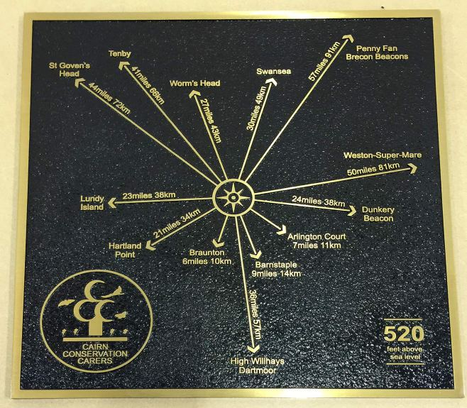 Cast Bronze Trigpoint Sign