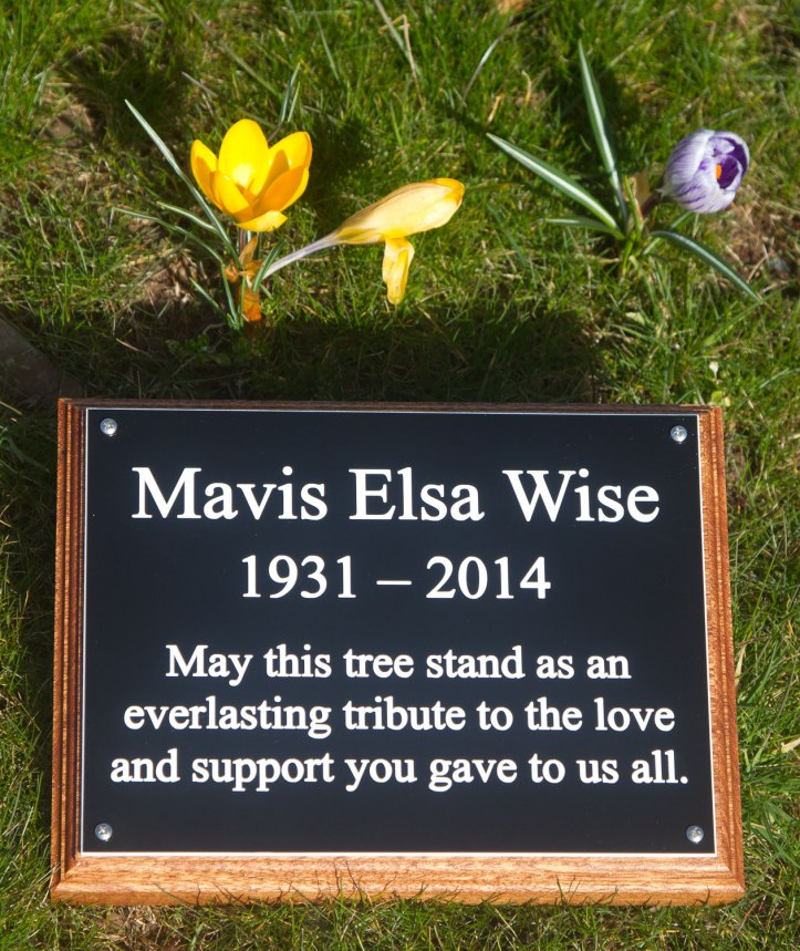 Black and white memorial plaque