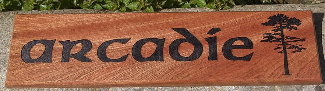 Sapele Wood Signs