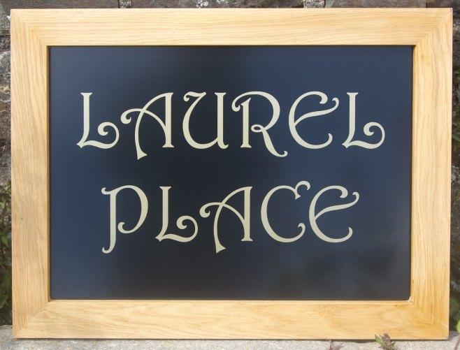 Oak Framed House Sign