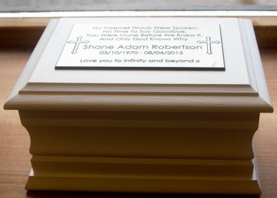 Looked superb with white engraved plaque