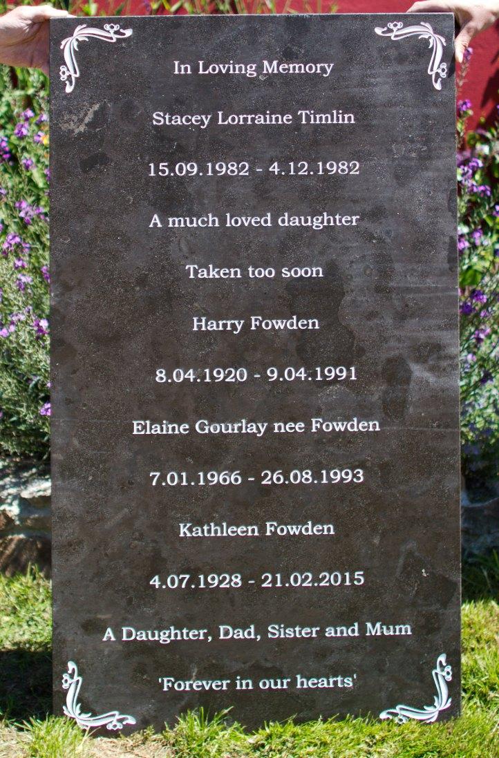 Black limestone memorial stone