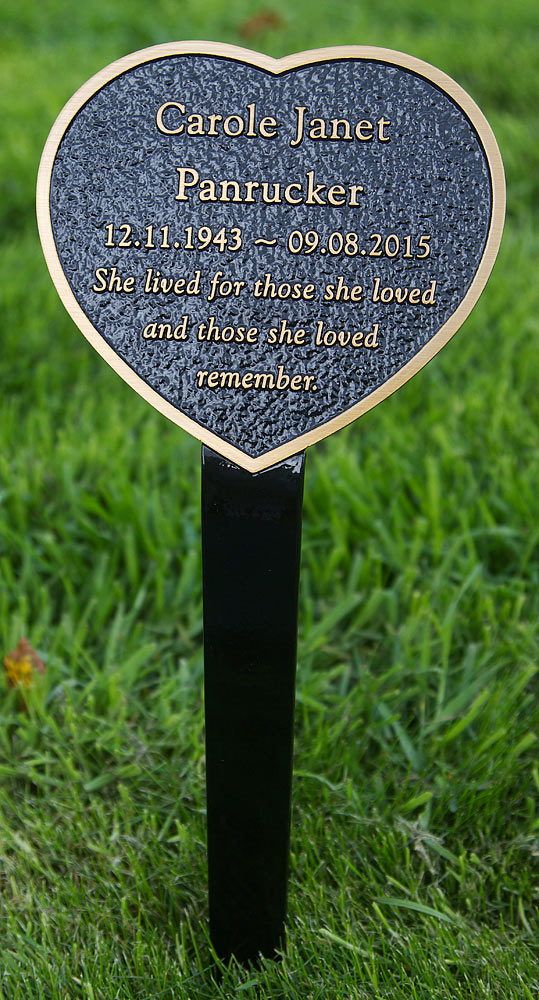 Bronze heart memorial