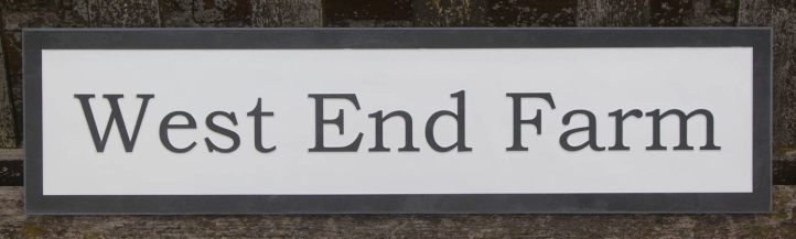 Slate House Sign with Raised Letters