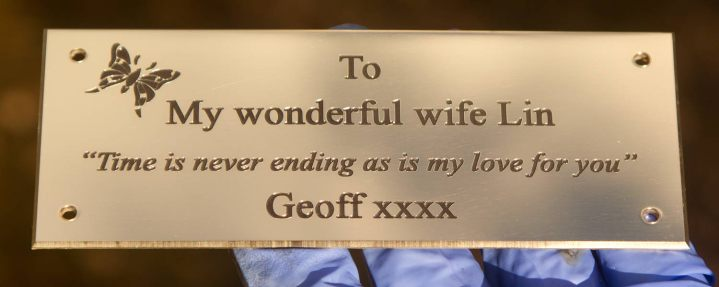 Engraved Brass Memorial plaque