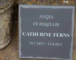 Slate Memorial with random edge border
