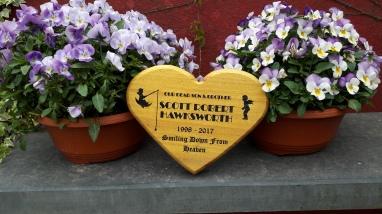 Wooden Heart shaped Memorial